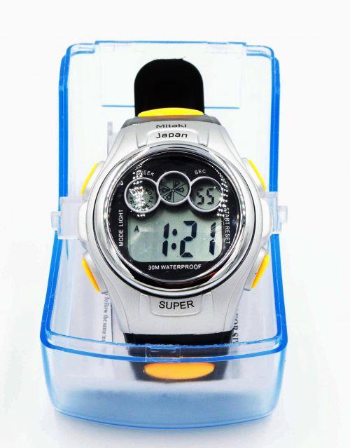Siempre puntual con el Reloj digital deportivo para caballero marca Mitaki-Japan® modelo Super. Importado de USA. -portada