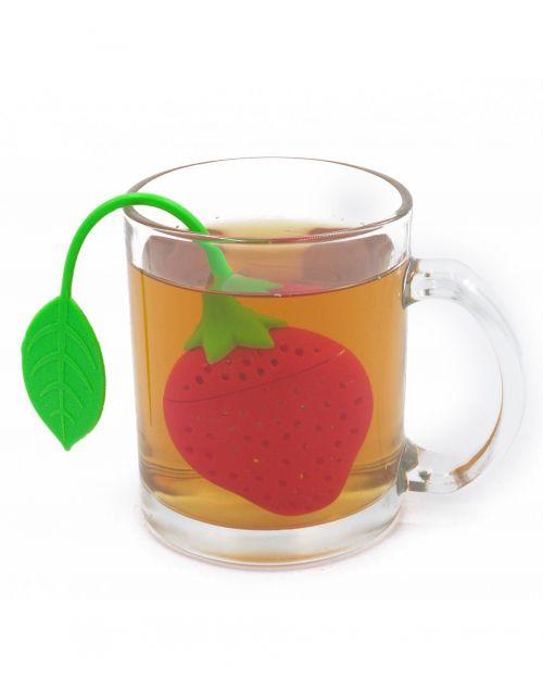 Infusor para té en forma de fresa-portada