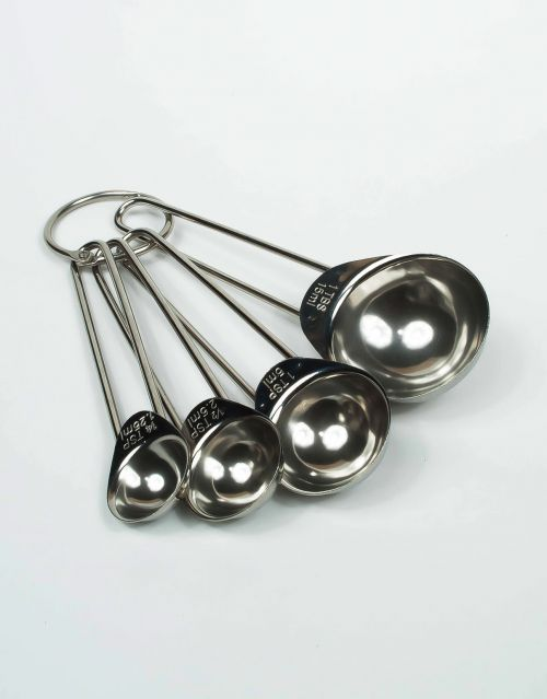 Útiles cucharas medidoras de acero inoxidable. Importado de USA. -portada