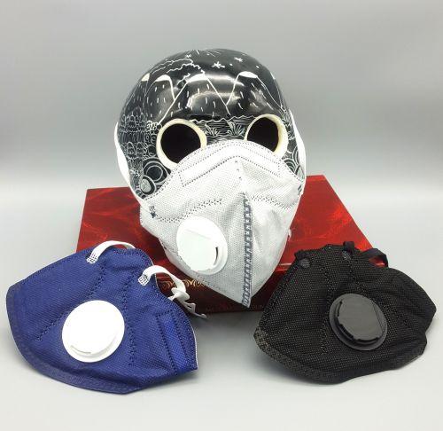 Paquete de 6 máscaras desechable con válvula y carbón activado. Fabricada con 5 capas de protección.-portada