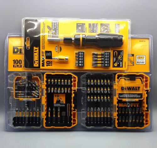 DeWalt Set de destornilladores con 100 piezas. Traído de USA. -portada