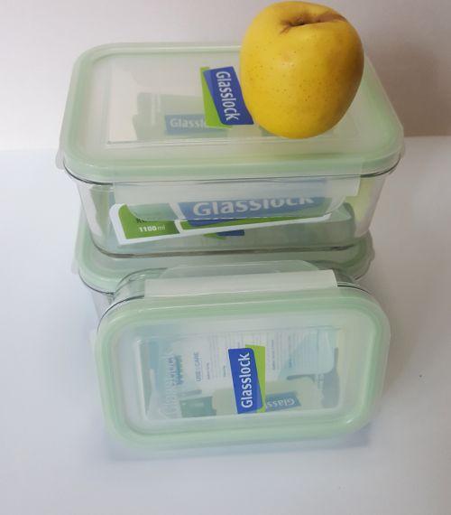 Juego de refractarios para alimentos marca Glasslock.-portada